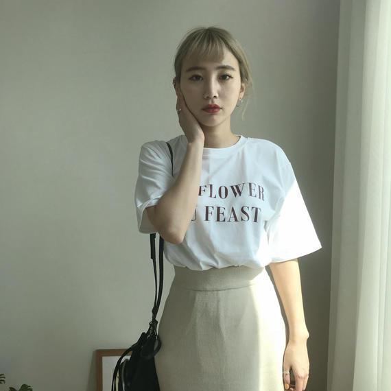 * 予約販売*レタリングプリントTシャツ/ホワイト