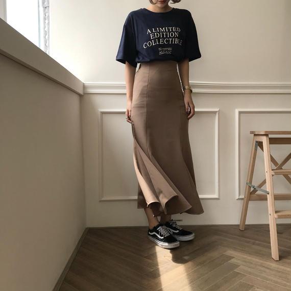 《8月中旬以降順次発送》マーメイドロングスカート/2colors