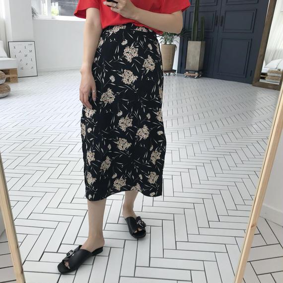 *予約販売*フラワーパターンスリットスカート