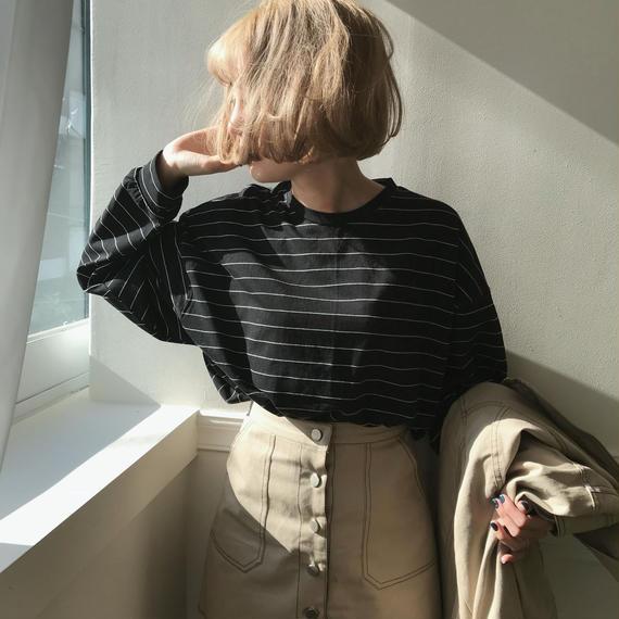 *予約販売*ボーダーTシャツ/2colors