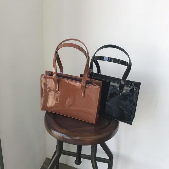エナメルハンドバッグ/2colors
