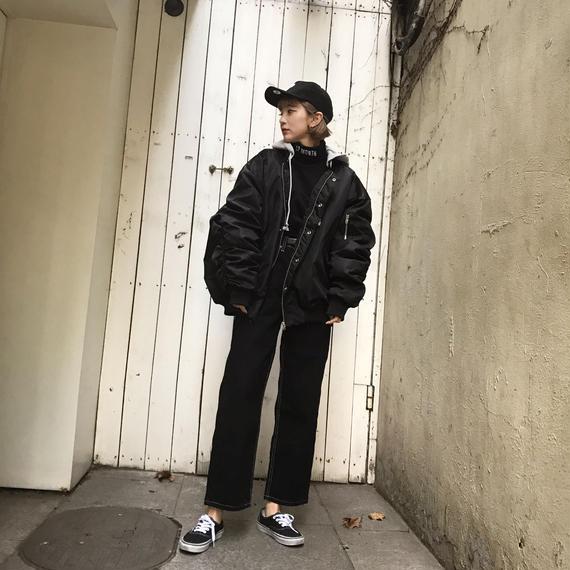 2wayビッグMA-1/ブラック