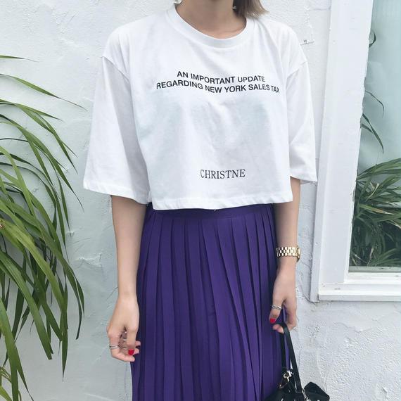 *予約販売*ショートレングスレタリングT-shirt/2colors