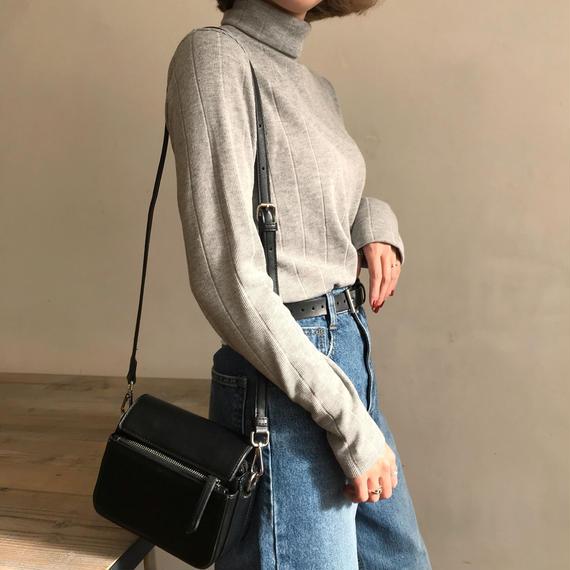 ✳︎予約販売✳︎裏起毛ハイネックTシャツ/グレー