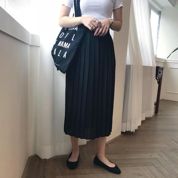 *予約販売*シアープリーツスカート/ブラック