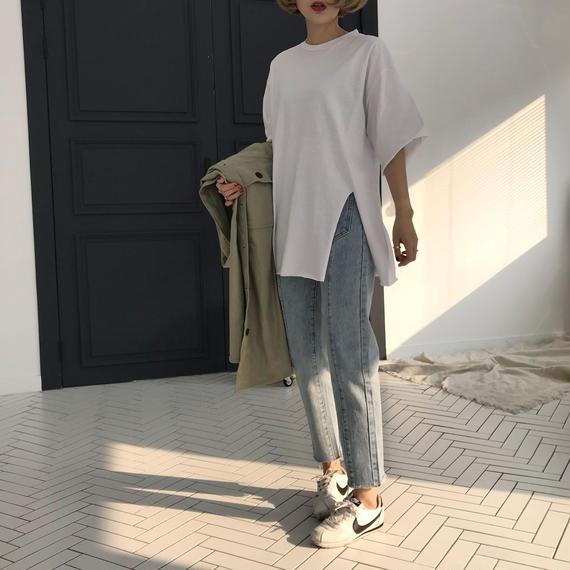 スリットTシャツ/2colors