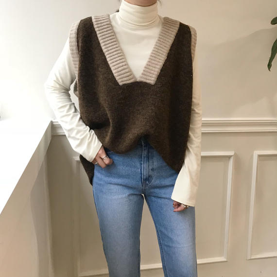 *予約販売*V knit best /2colors