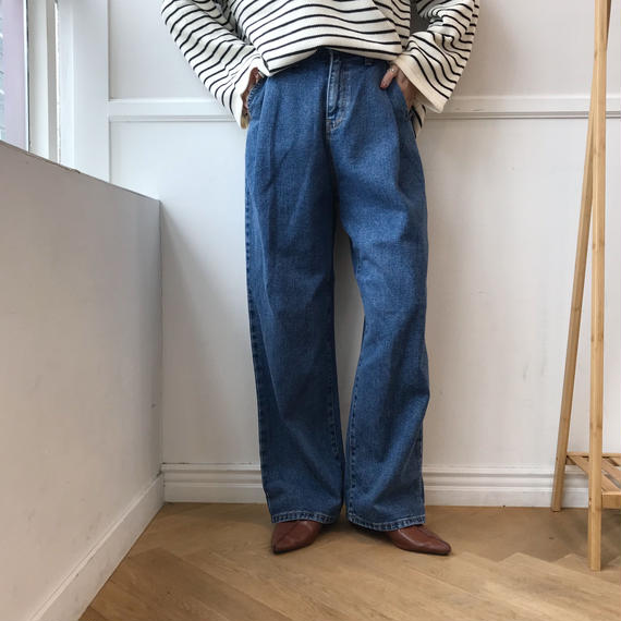 *予約販売*tuck long denim