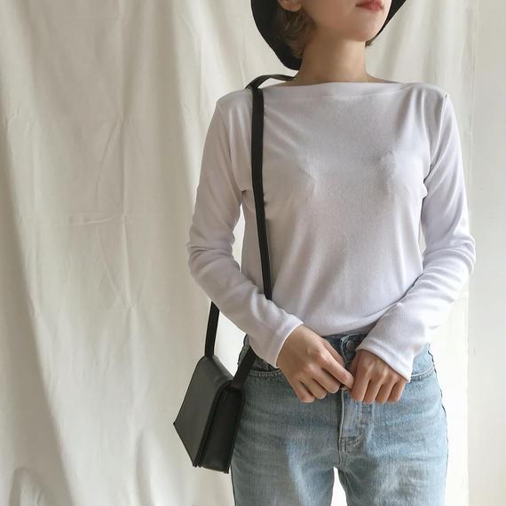 *予約販売*ボートネックTシャツ/ホワイト