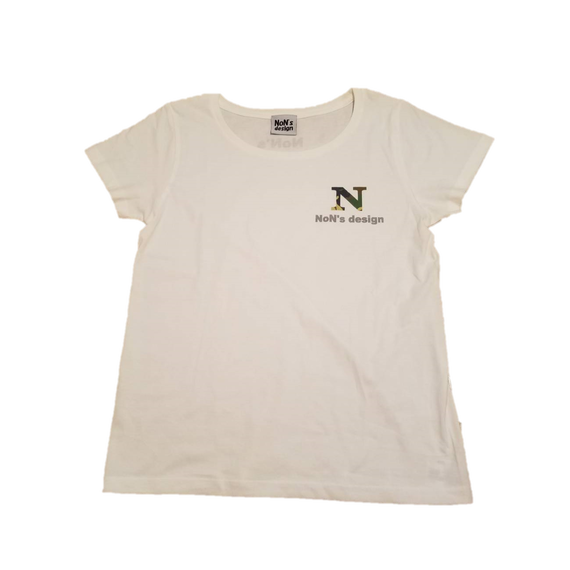 Lady`s-N Logo Fit T-shirt (White&Camo)