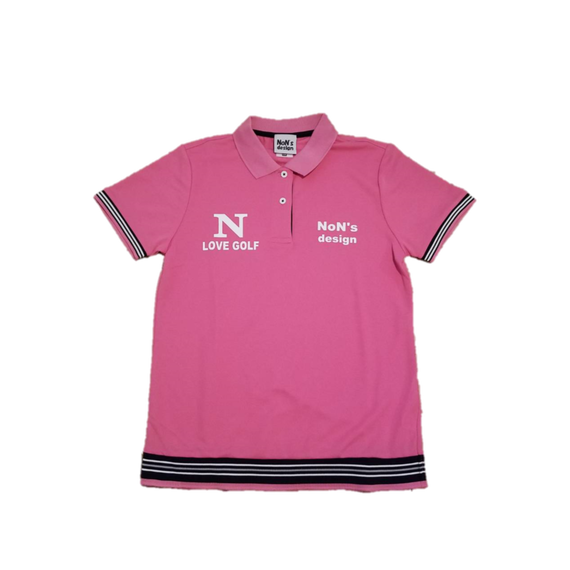 Lady`s-Dry Fit Golf Polo (Pink)