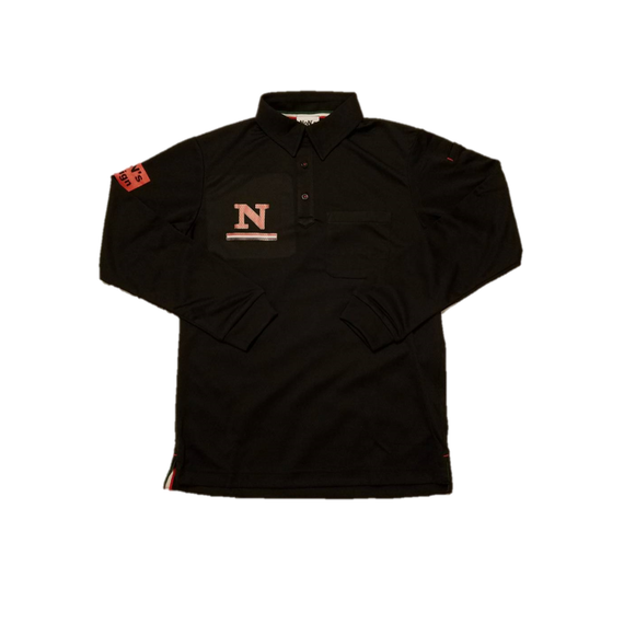 Long Sleeve Golf Polo(Black)