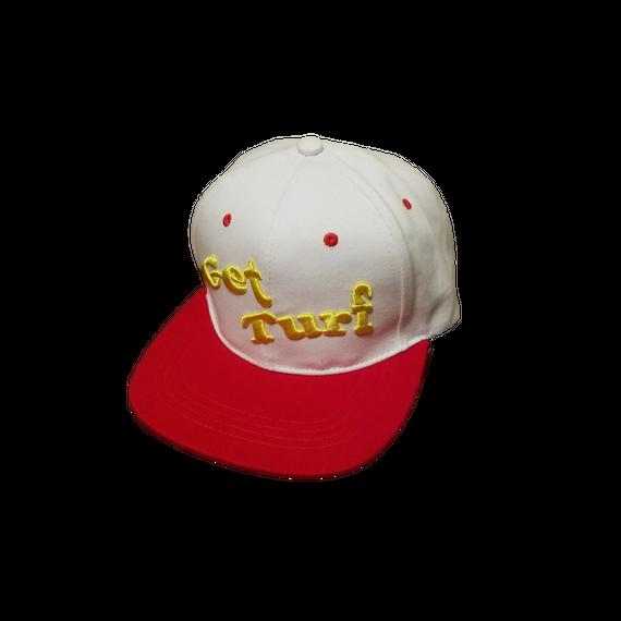 【Get Turf】Flat Cap(White&Red)