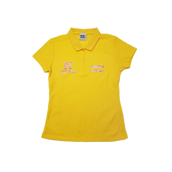 Lady`s-Slim Fit Golf Polo(Yellow)