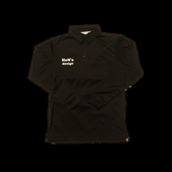 ゴルフ我流道×NoN`s design Golf Polo(Black)