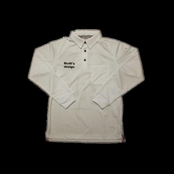 ゴルフ我流道×NoN`s design Golf Polo(White)