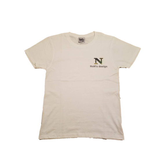 N Logo Fit T-shirt (White&Camo)