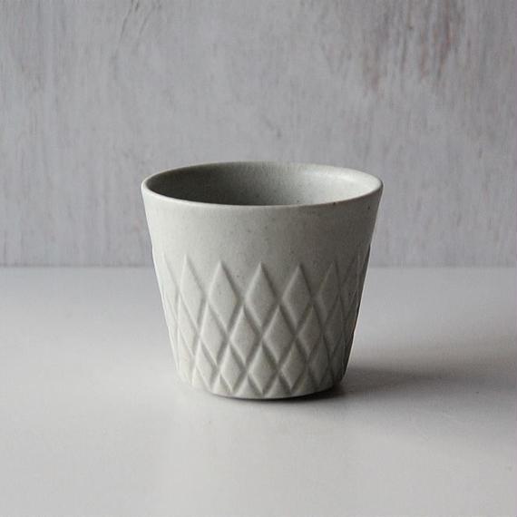若菜綾子 ダイヤ彫りフリーカップ