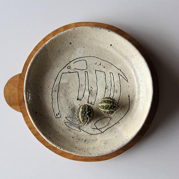 清水しおり リム皿(no.5)