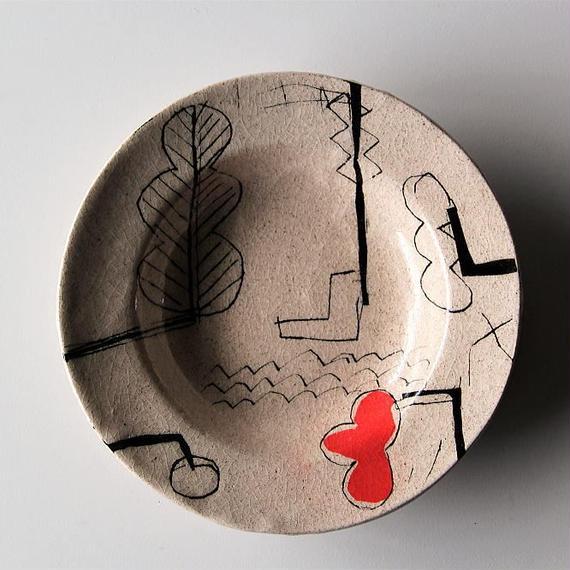キムホノ リム皿(赤)