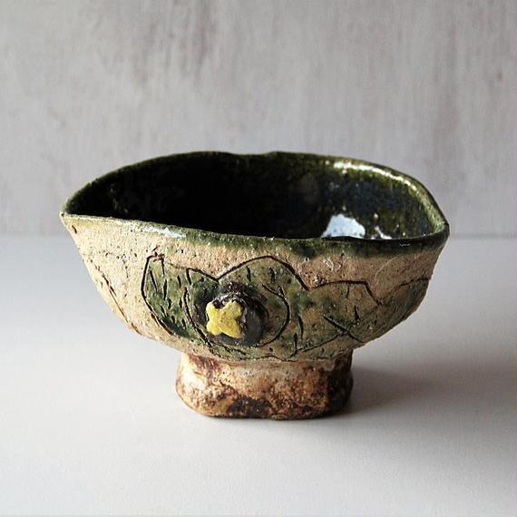 キムホノ  織部鉢(no.2)