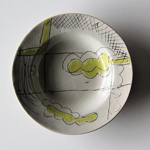 キムホノ リム皿(きみどり)