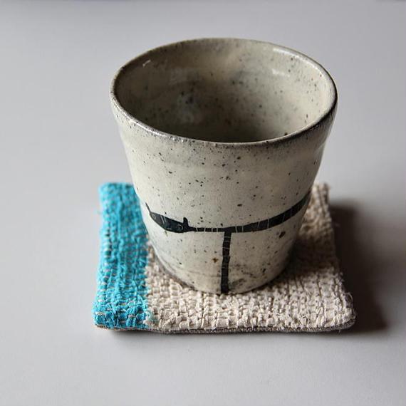 清水しおり 黒絵のフリーカップ(no.2)