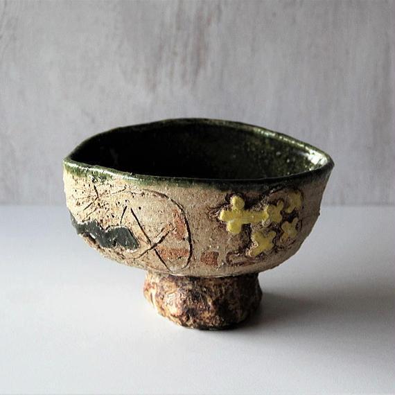 キムホノ  織部鉢(no.1)