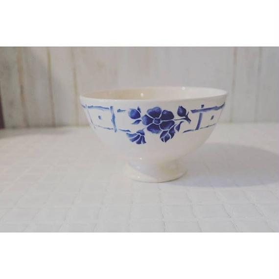 コントワール・ドゥ・ファミーユ カフェオレボウル   青い花