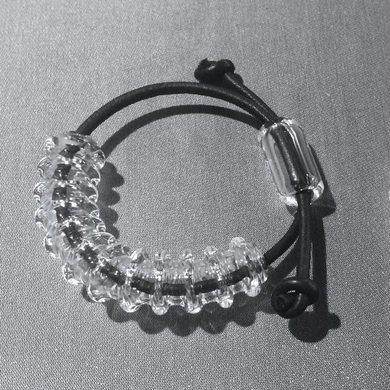 凹凸Tube Bracelet White  凹凸チューブブレスレット