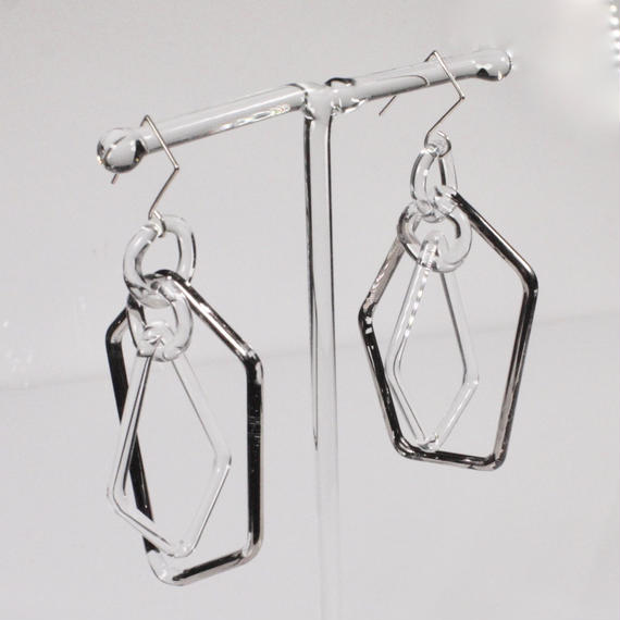 Pentagon Earrings Platinum