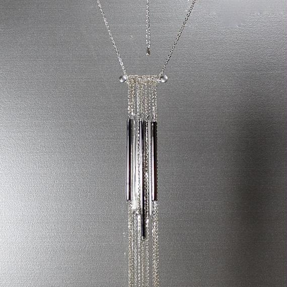 Platinum Long Tube Necklace プラチナロングチューブネックレス