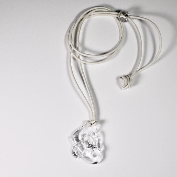 Blink leather Necklace White