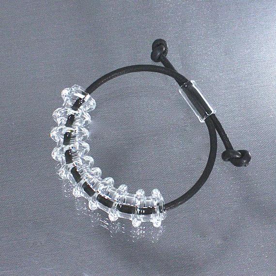凹凸Tube Bracelet Black 凹凸チューブブレスレット ブラック