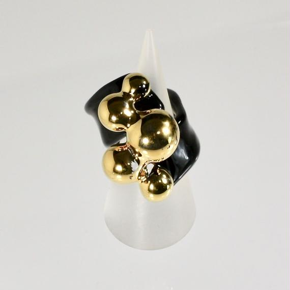 Multi Ball Ring / Gold black