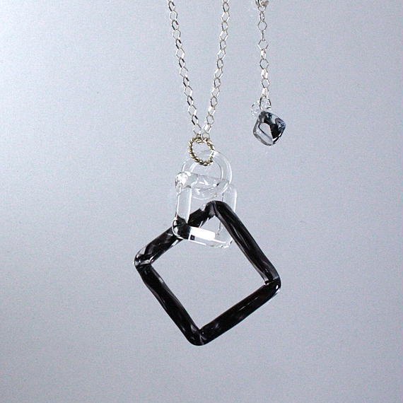 Square Necklace Black スクエアネックレス ブラック