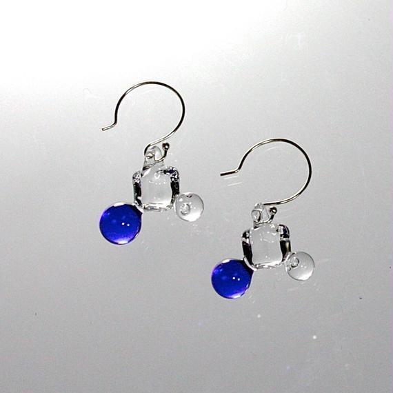 Cube Ball Earrings Cobalt キューブボールピアス コバルト