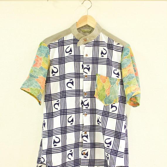 Men's japanese character kimono shirt (no.179)
