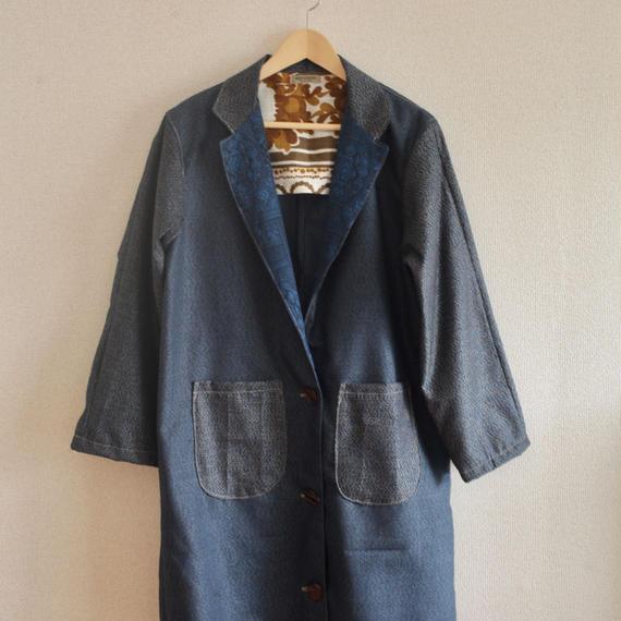 Unisex Dark Blue Kimono Long Jakcet (no.224)