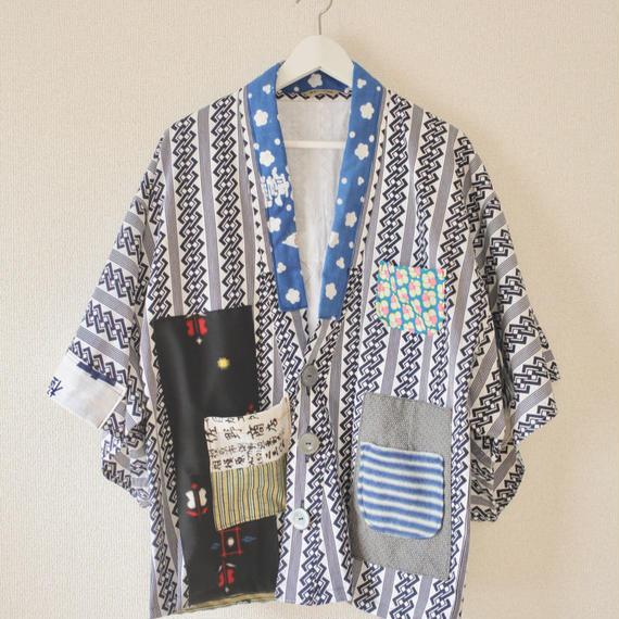 Men's Yukata Haori style half jacket (no.199)