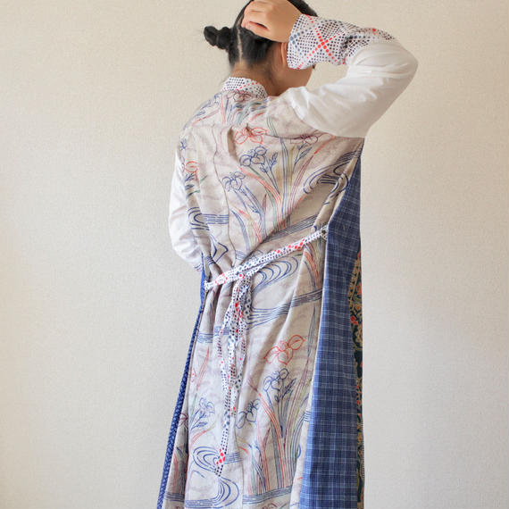 Kimono&Yukata combi Long shirt dress (no.186)