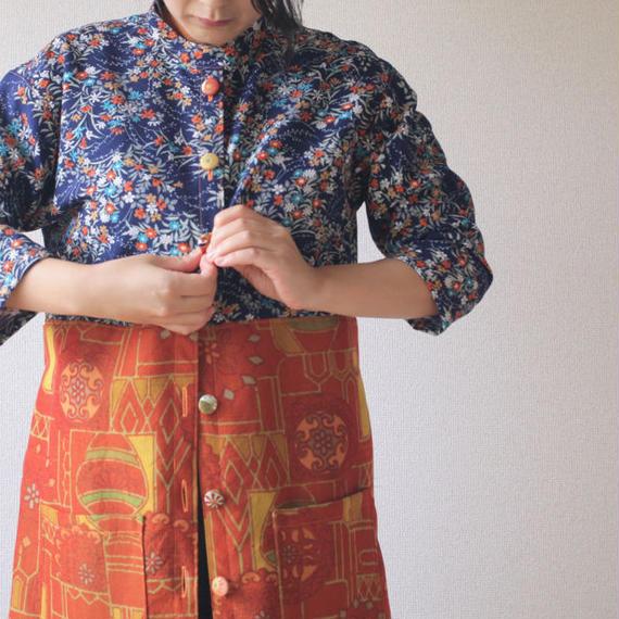 2 color autumn long jacket (no.074)