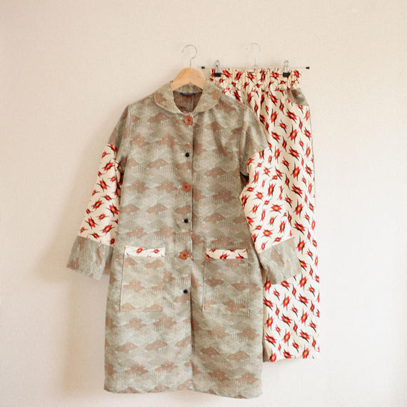2 Kinds Kimonos Spring Coat & easy Pants combination (no.268)