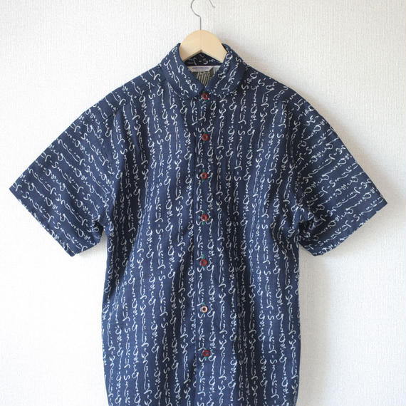 Men's HIRAGANA half-sleeves shirt (no.033)