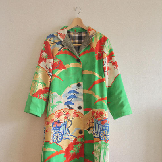 Gorgeous Light green Furisode Long Jacket (no.223)