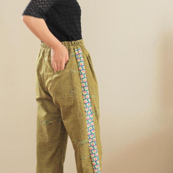 Matcha green Kimono casual pants (no.153)