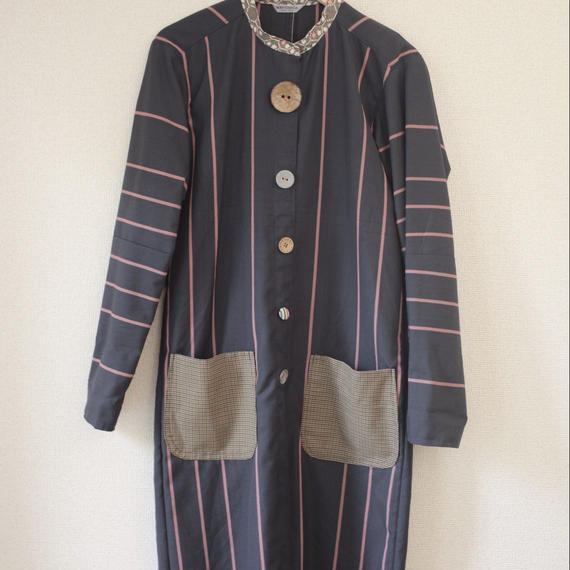 Women's stand-collar long coat (no.018)