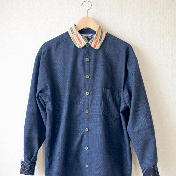 Men's blue kimono shirt (no.076)