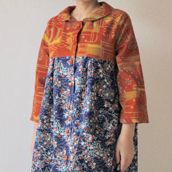 Autumn color kimono coat dress (no.073)