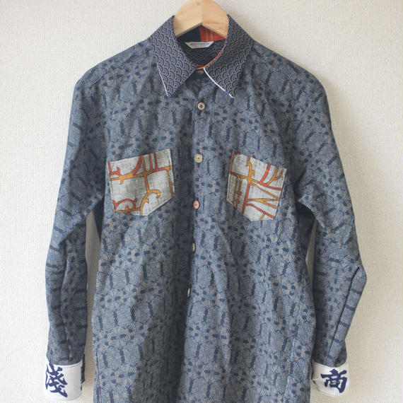 Men's kimono x Kanji casual shirt (no.95)